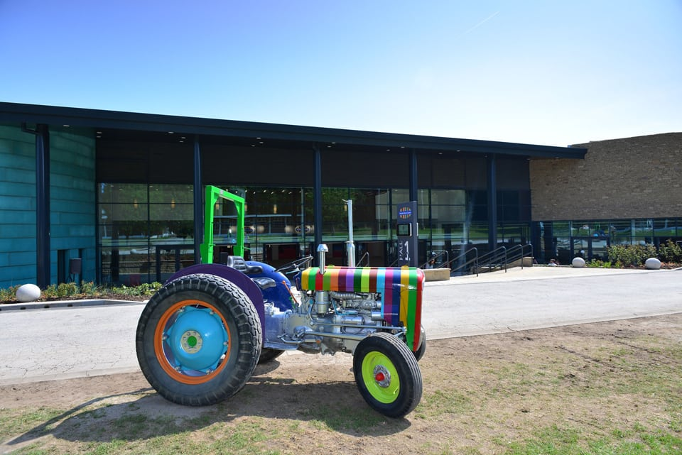 Stripped Tractor