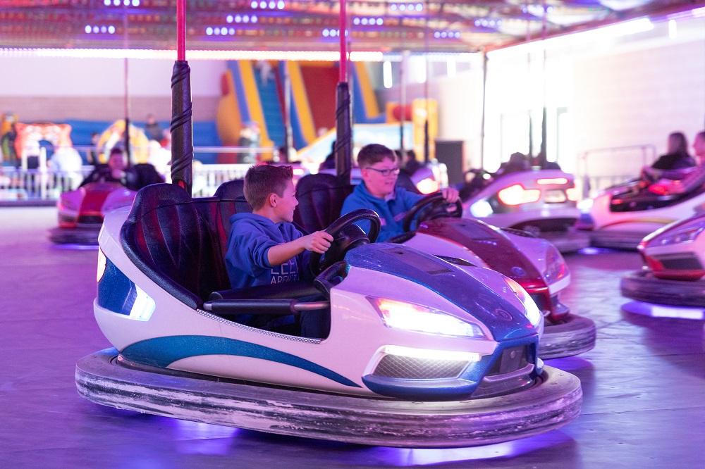 Indoor Funfair bumper cars