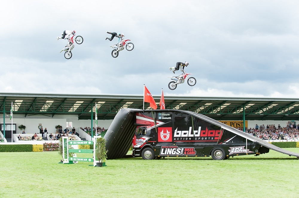 The Bolddog Lings stunt riding at GYS