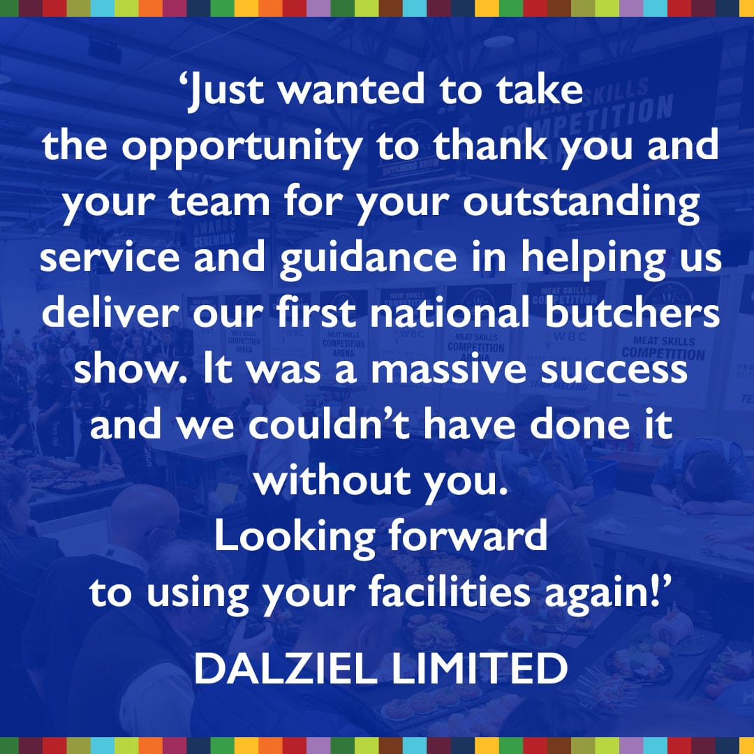Trade exhibition venue testimonial