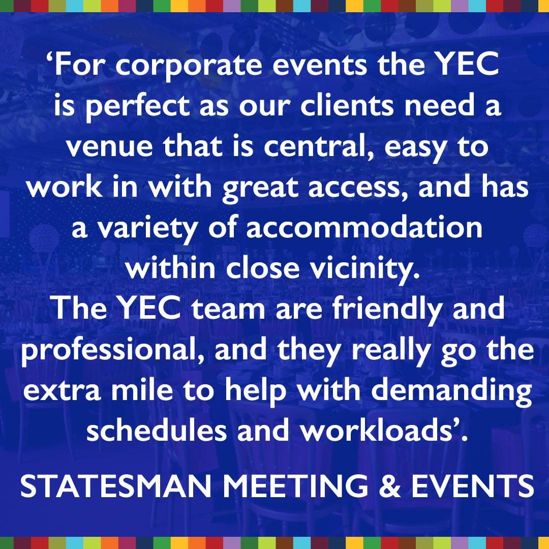 event venue testimonial