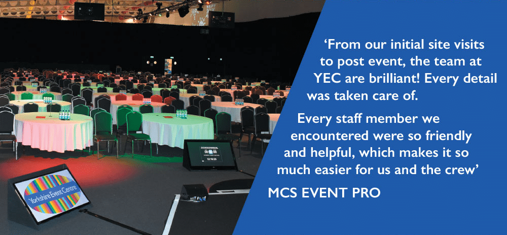 Yorkshire Event Centre Customer Review
