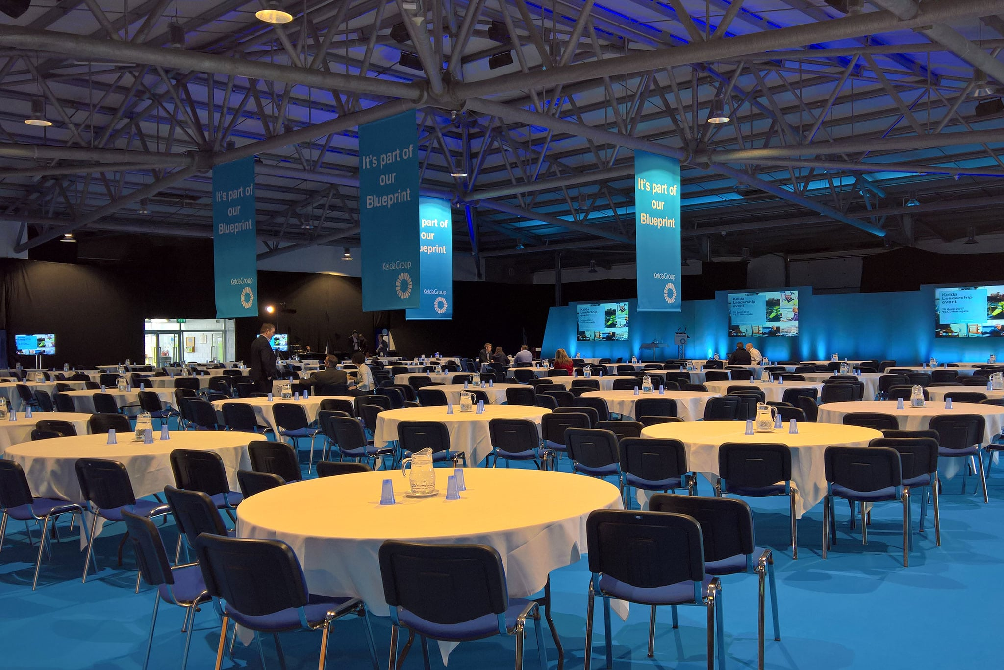 Conference seating in Hall 2 from 100 - 1600 delegates at the Yorkshire Event Centre