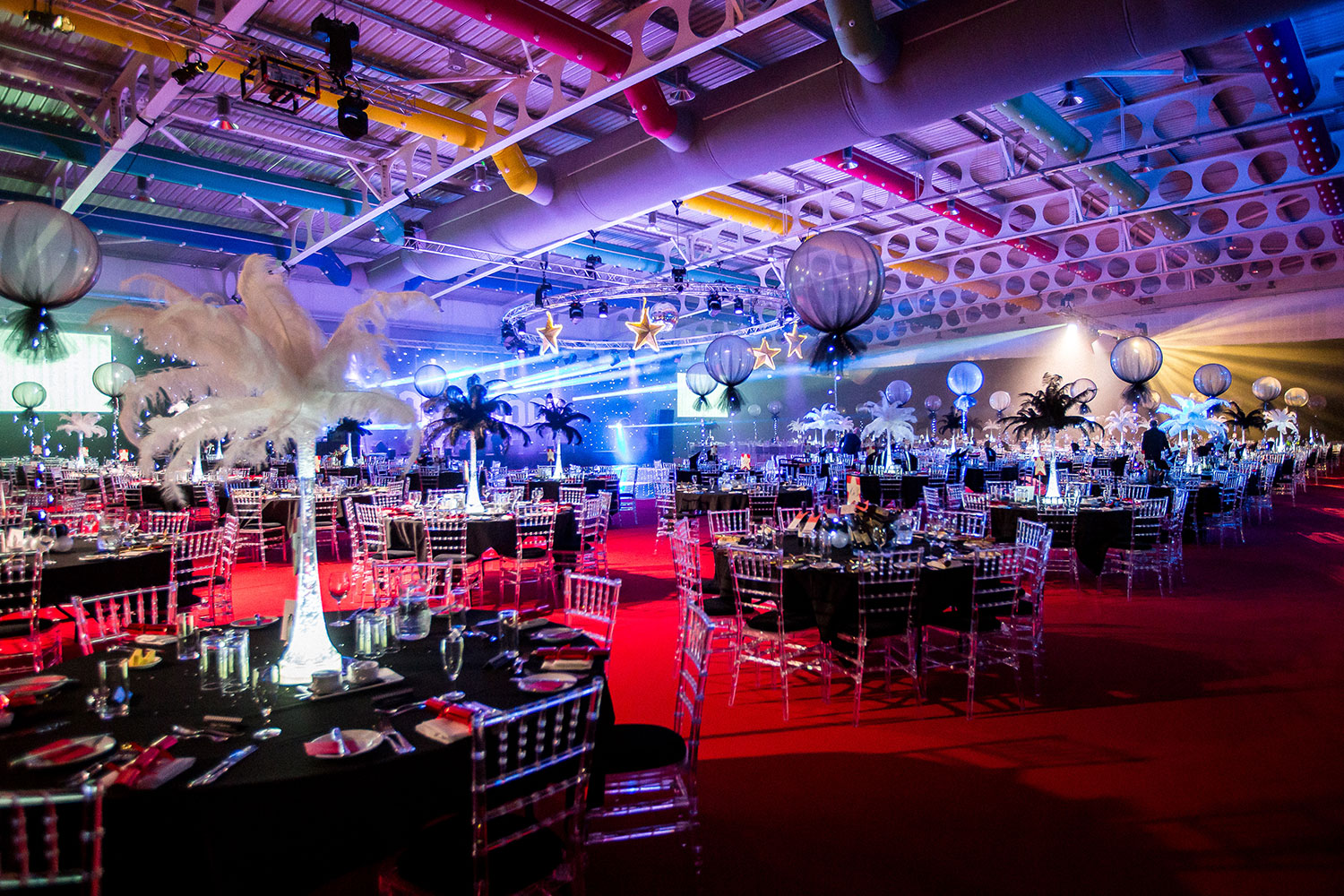 Large banquets and award dinners at the Yorkshire Event Centre