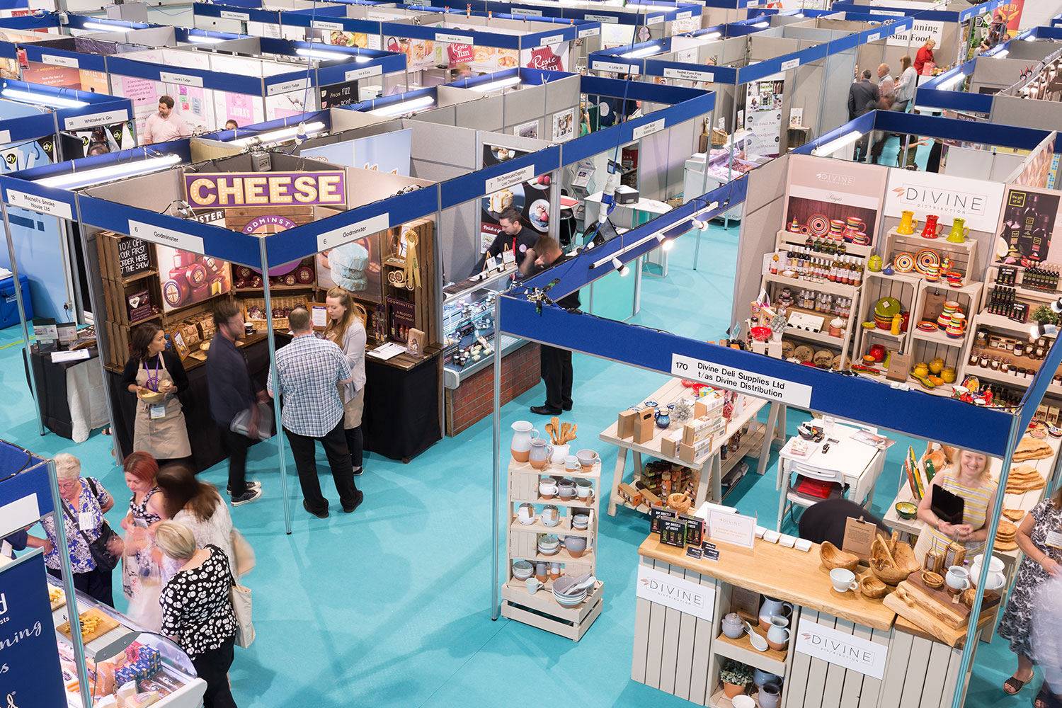 Exhibitions in Hall 2 at the Yorkshire Event Centre